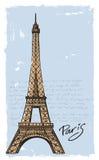 Paris tiré par la main Photos stock