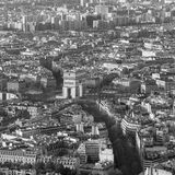 Paris from top view. Aerial view of Paris architecture from the Eiffel tower Stock Photos