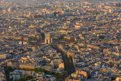 Paris from top view Royalty Free Stock Photo