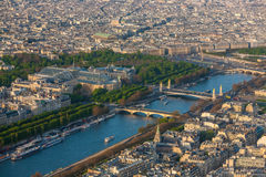 Paris from top view Royalty Free Stock Images