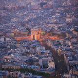 Paris from top view Royalty Free Stock Image