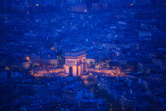 Paris from top view Stock Images