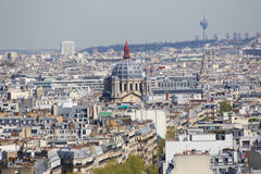 Paris from Top Royalty Free Stock Photo