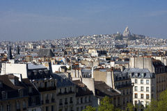 Paris. The tops of the buildings in the city of love stock image