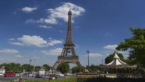 Paris, torre Eiffel Timelapse, França, filme de 4K UHDV (3840x2160) 25fps video estoque