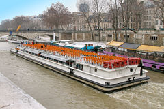 Paris tour boat Stock Image