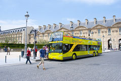 Paris tour bus Royalty Free Stock Photography