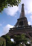 Paris Tour de Eiffel. Landmark structure, the Eiffel Tower, on a sunny day in Paris royalty free stock images