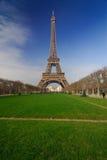 Paris tour Eiffel. View from garden park at Tour Eiffel in Paris Royalty Free Stock Image