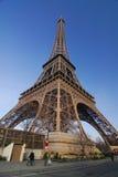 Paris tour Eiffel. View from garden park at Tour Eiffel in Paris Stock Photo