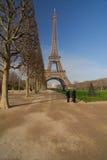 Paris tour Eiffel. View from garden park at Tour Eiffel in Paris Royalty Free Stock Photo