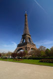 Paris tour Eiffel. View from garden park at Tour Eiffel in Paris Royalty Free Stock Photography