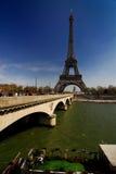 Paris tour Eiffel. View from Seine at Tour Eiffel in Paris Royalty Free Stock Photo