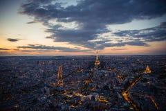 Paris, Tour Eiffel, paysage urbain Images stock