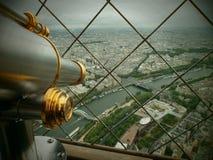 Paris Tour Eiffel. At the top of the Eiffel tour royalty free stock photo
