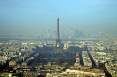 Paris from Tour Montparnasse Stock Images