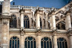 Paris tourism and St Eustache church Royalty Free Stock Photo