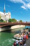 Paris Tourism Bateau-Mouche Stock Image