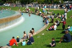 Paris-Tourismus Trocadero-Gärten Lizenzfreies Stockbild