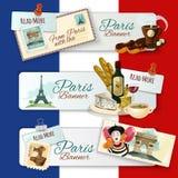 Paris Touristic Banners Royalty Free Stock Photo
