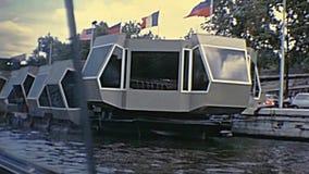 Paris touristic boat stock footage