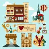 Paris Touristic Set Royalty Free Stock Images