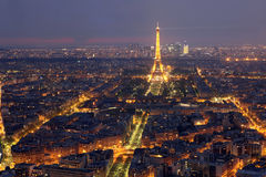 Paris and Tower Eiffel. View of the Paris and Tower Eiffel Royalty Free Stock Photo