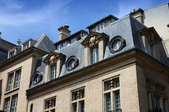Paris townhouse Royalty Free Stock Photography