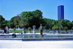 Paris trädgårdar Arkivbild