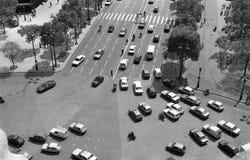 paris trafik Arkivbild