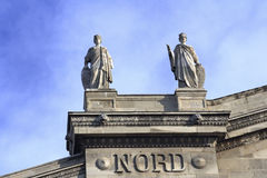 Paris a train station Stock Image