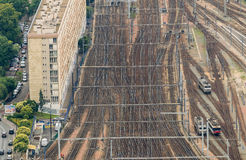 Paris train station, France. Aerial view Stock Image