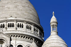 Paris travel Basilica Sacre Coeur - Sacred Heart Royalty Free Stock Images