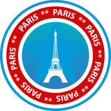 Paris travel button Stock Photography