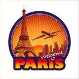 Paris travel emblem. Designed Paris city travel emblem Stock Photo