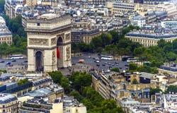 Paris Triumph båge Arkivfoton