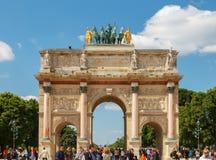 Paris. Triumphal Arch of the Carousel. Stock Image
