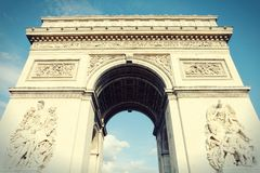 Paris - Triumphal Arch Royalty Free Stock Photography