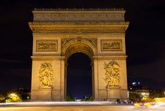 Paris, Triumphal arch Stock Photography