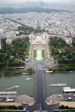 Paris- Trocadero and Defence from the Eiffel Tower. French- Paris- Trocadero and Defence from the Eiffel Tower royalty free stock photos