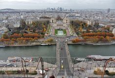 Paris - Trocadero from Eiffel Tower stock image