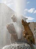 Paris - Trocadero fountain Stock Image
