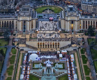 Paris - Trocadero, Palais de Chaillot Royaltyfri Fotografi