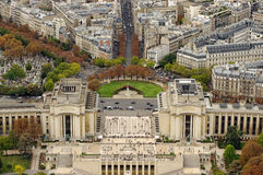 Paris, Trocadero. Trocadero square seen from top of Eiffel Tower, Paris Royalty Free Stock Images