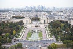 Paris. Trocadero und Verteidigung Stockfotografie