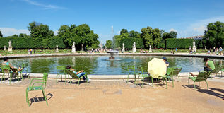Paris - Tuileries garden Stock Images