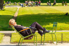 Paris. Tuileries Garden Royalty Free Stock Image