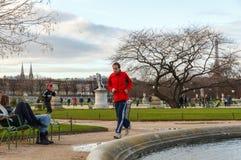 Paris. Tuileries Gardens. Stock Image