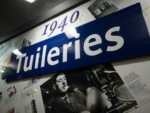 Paris Tuileries Metro Station Sign Royalty Free Stock Photo