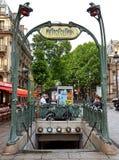 Paris - tunnelbana royaltyfri foto